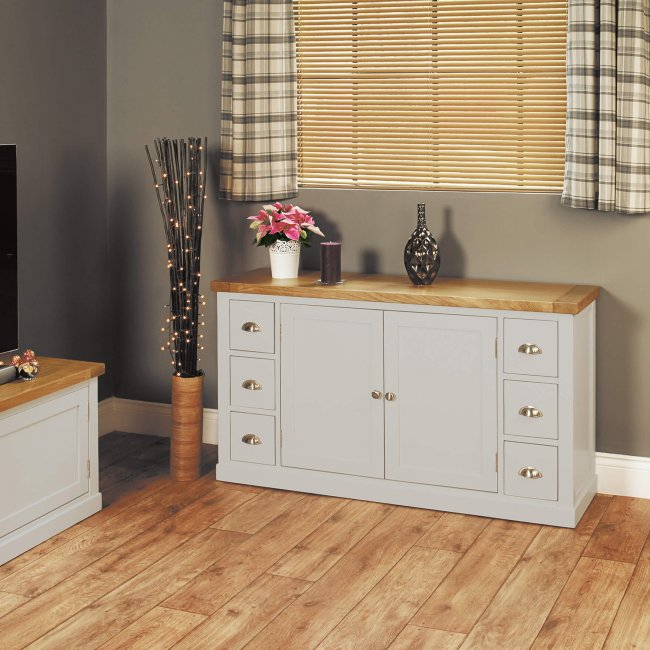 small sideboard with six drawers chadwick cgp02a