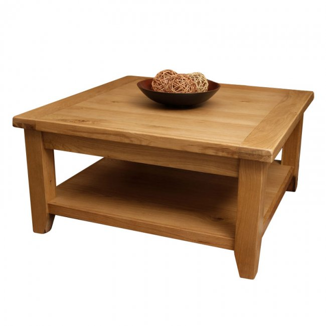 Oak Square Coffee Table