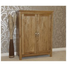 solid light oak hidden shoe cupboard