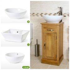 Oak Vanity Units With Basin Sink Bathroom Furniture