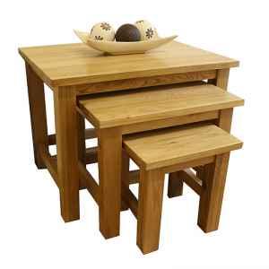 50% Off Solid Oak Nest of Tables | Glenmore