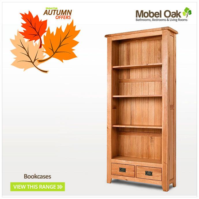 Small rustic light oak bookcase living room hallway furniture cb 14 ebay - Mobel for living ...